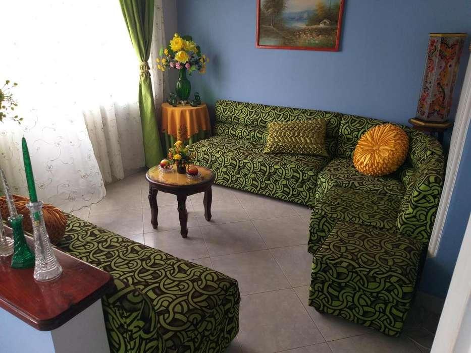 <strong>juego</strong> de sala en color verde y negro casi nuevo precio especial