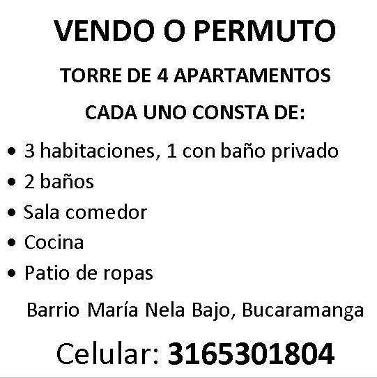 VENDO O PERMUTO <strong>apartamento</strong>S TODOS ARRENDADOS
