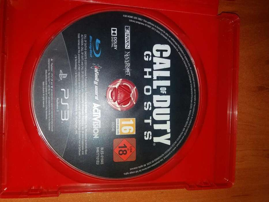 Juego Call Of Duty Ghost Ps3