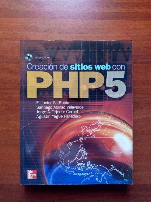 Libro Creación de Sitios Web Con PHP5 Mas CD, Editorial Mc Graw Hill, Sin Marcas Excelente Estado