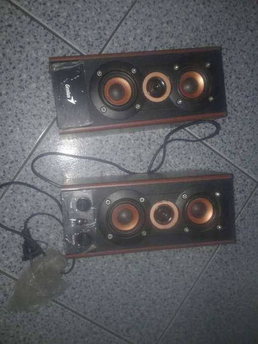 Parlante Genius 2.0 Sp-hf800a Wood - Dix