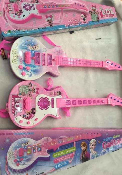 Guitara Frozen Con Sonido y Musica