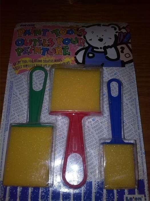 Mango De Plástico, esponja cepillos. Pincel de Dibujo 150