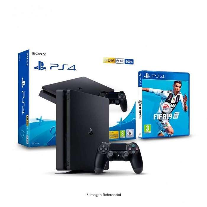 PS4 EDICIÓN FIFA 19 DE 500GB NUEVO