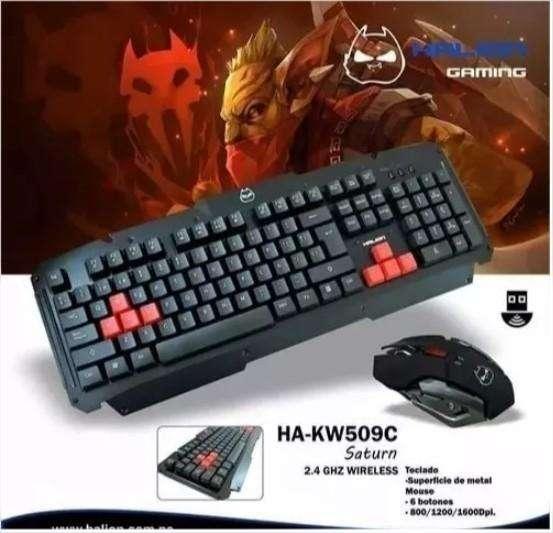 Kti Teclado Mouse Gamer Inalambrico Halion Saturn Ha-kw509