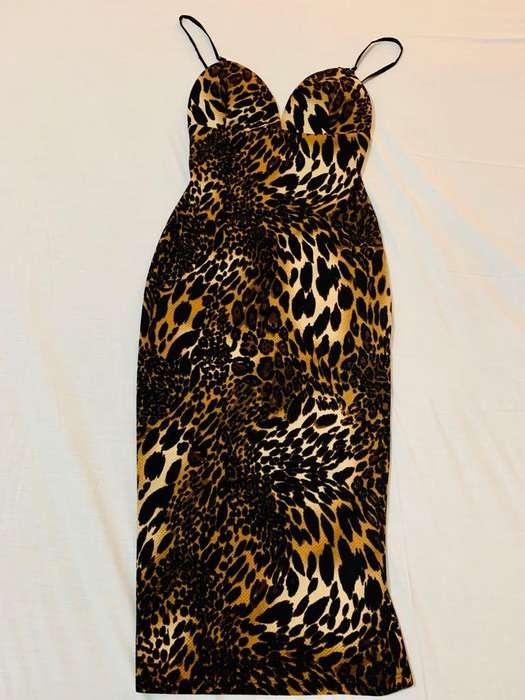 vestido animal print para dama
