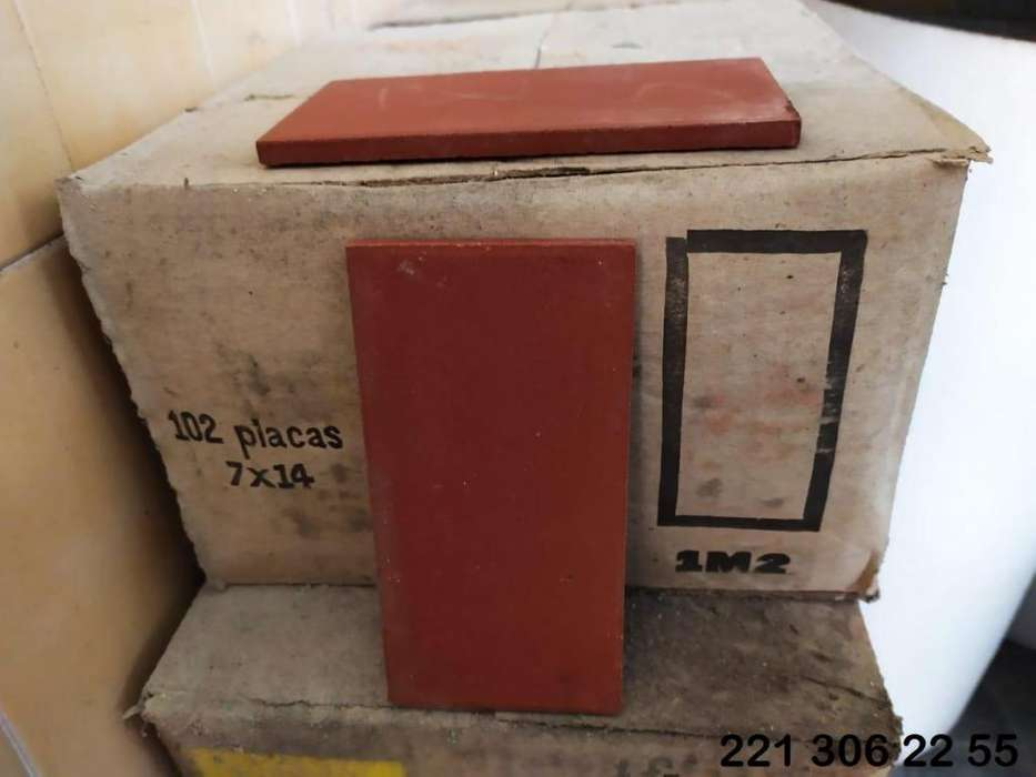 LOTE cerámicos 7x14cm para piso o pared (53 cajas)