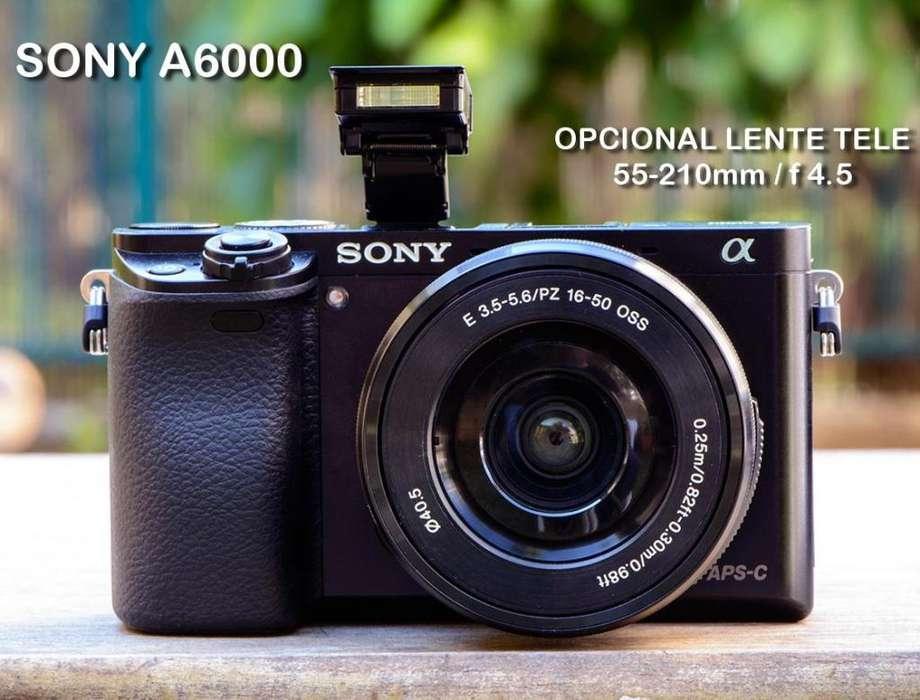 NUEVA !!!!! Camara Sony A6000 Mirrorless Con Lente 16-50mm Protector