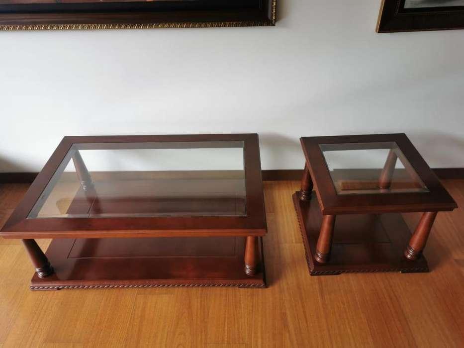 Espectacular Juego de mesas para salas (centro y auxiliar)