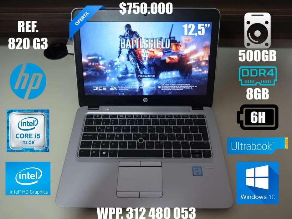 Oferta HP UltraBook i5 Sexta 8GB RAM DDR4 500GB HDD