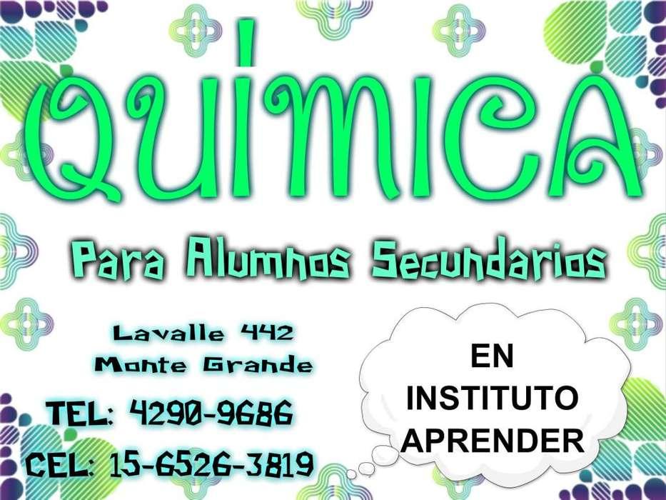 QUÍMICA, CLASES DE APOYO EN MONTE GRANDE