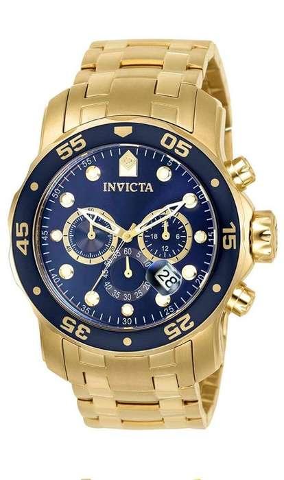 Reloj Invicta Dorado Original en Caja
