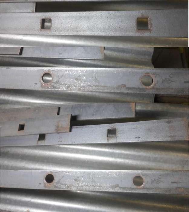 Hierro Planchuela Perforada 1¼ X 3/16 / Redondo O Cuadrado