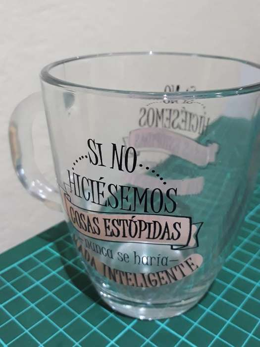 Taza de Vidrio Frase