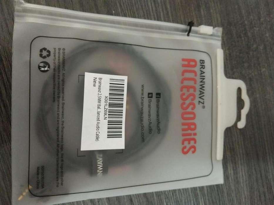Stock! Brainwavz 2,5 Mm. Cable Balanceado Conectores Mmcx