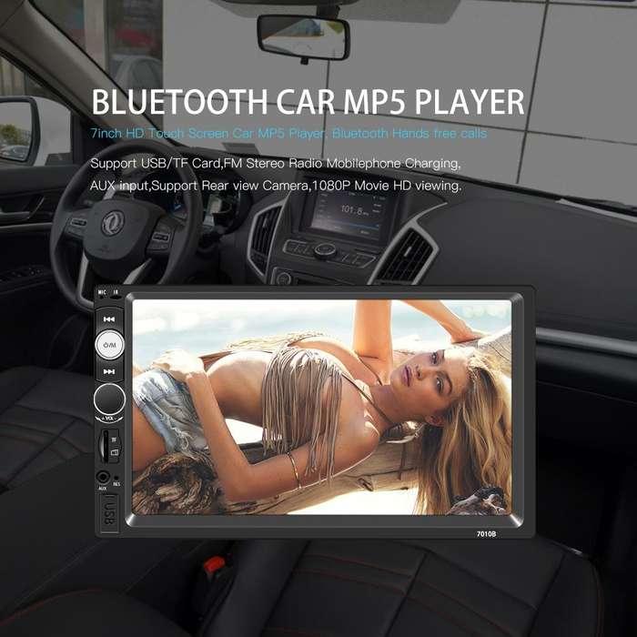 Radio para Carro Mp5 Bluetooth Usb mirror link sd Aux Pantalla 7 pulgadas 2 din 4x60w
