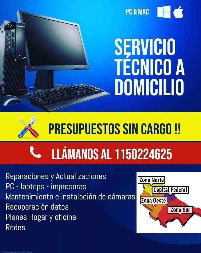Técnico De Pc A Domicilio - Todas las Zonas (cctv-redes-impresoras-wifi)