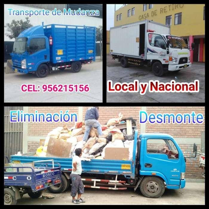 Transporte de Carga/ Mudanzas Y Desmonte