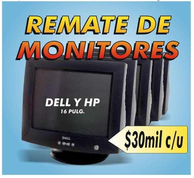 REMATO TRES MONITORES DELL Y HP 30mil C/U Y DOS COMPUTADORES DE MESA A150MIL CADA UNO
