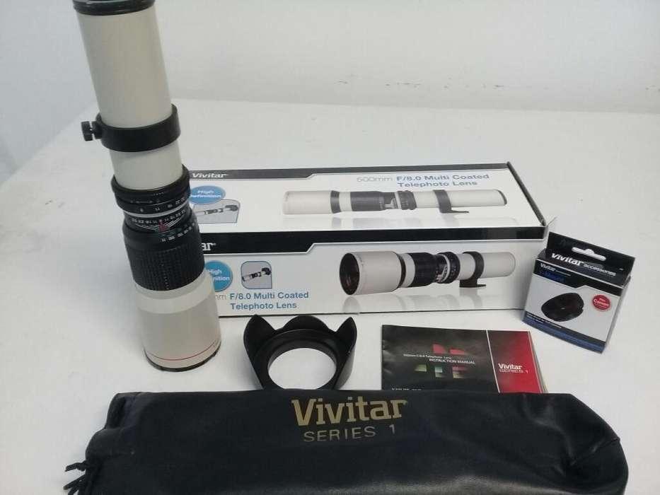 Teleobjetivo Vivitar 500
