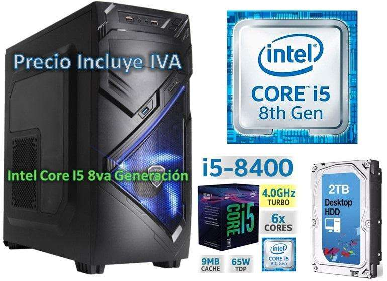 Computadora Cpu Intel Core I5 8va Gen 2tb 4gb I7 PRECIO INCLUYE IVA ENTREGA A DOMICILIO