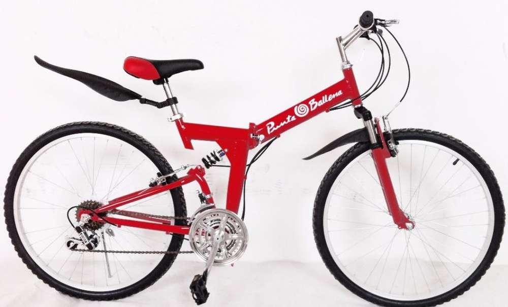 Bicicleta Plegable Aro 26 Importada A1