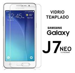 Funda Tpu Elegante Vidrio Templado Samsung J7 Neo Rosario