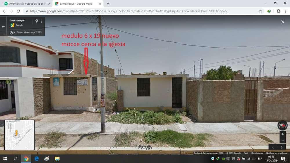 modulo en oferta nuevo mocce Lambayeque muy cerca a la comisaria cerca a la Iglesia S/.75.000 soles