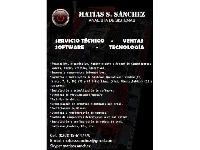 Servicio Técnico Informático Equipos Software Tecnología