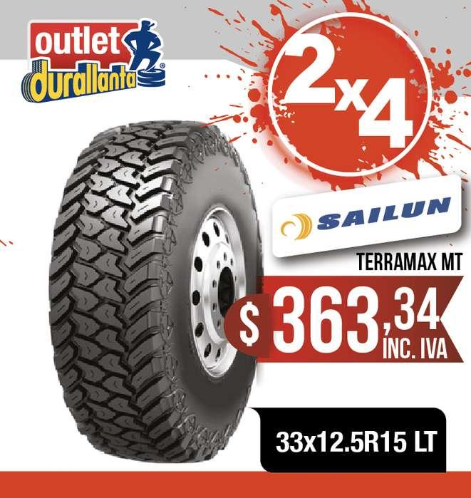 <strong>llanta</strong>S 33x12.5R15 LT SAILUN TERRAMAX MT