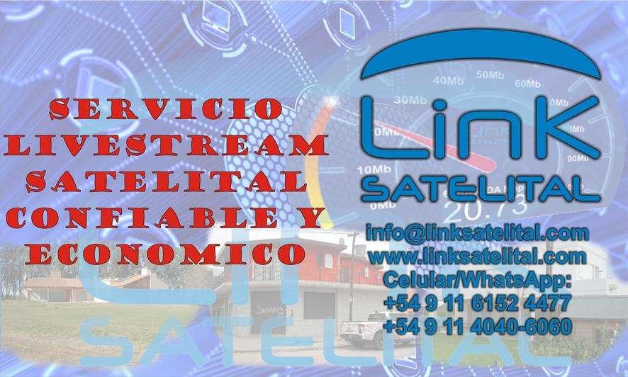 Internet Satelital para Servicio de LiveStream y Eventos en Provincia de Buenos Aires, VER MAPA, NO ES DOMICILIARIO