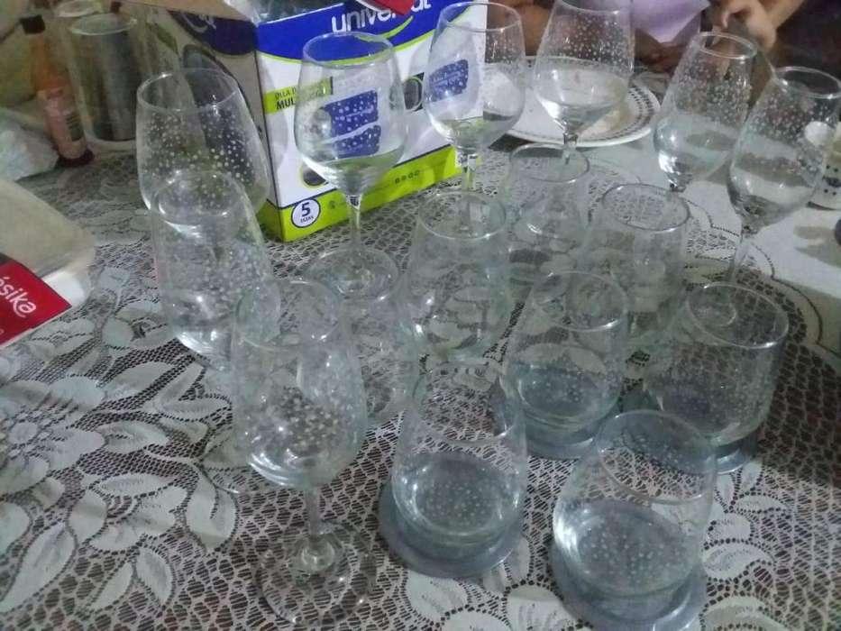 Vasos finos marca cristal ms una arrocera