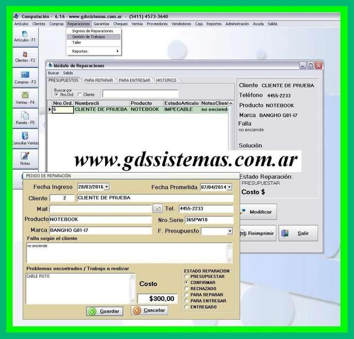 programa REPARACIONES Plus GDS Sistemas -:- software para taller de reparaciones gestión y facturación