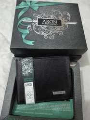 Billeteras Aron 100 Cuero Nuevas en Caj