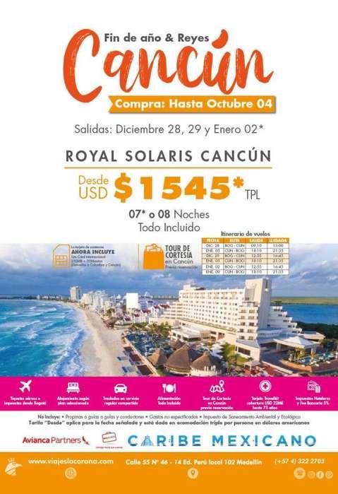 Viaje a Cancún Fin de año y Reyes con Viajes la Corona H. ROYAL SOLARIS CANCÚN
