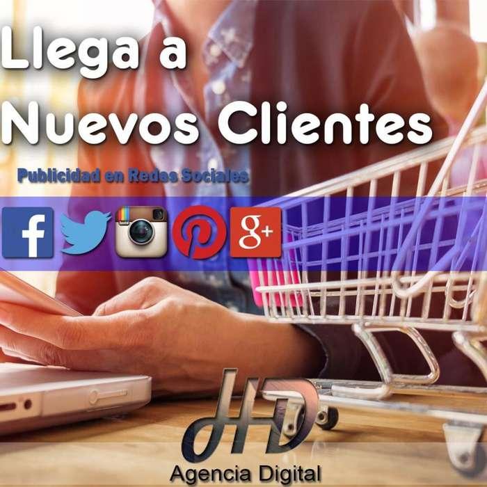 PUBLICIDAD EN REDES SOCIALES PAGINAS WEB TIENDAS VIRTUALES