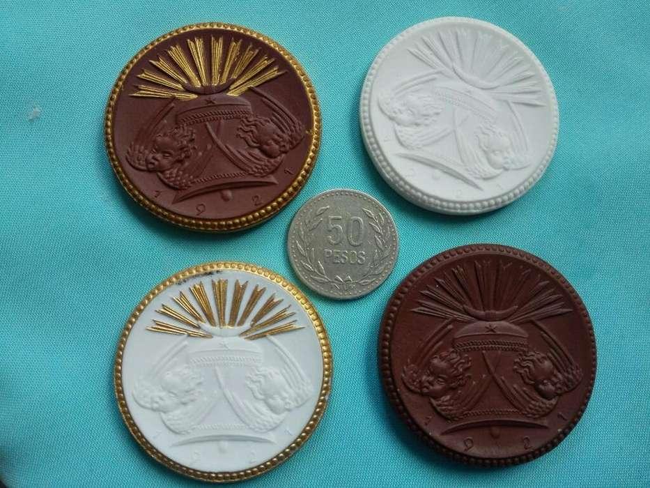 Vendo Hermosas Monedas de Porcelana de 1921