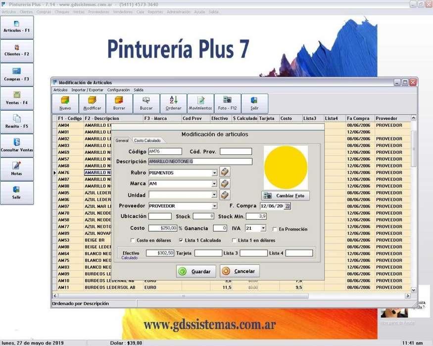 programa -- Pinturería Plus 7 -- <strong>software</strong> de gestión comercial apto para factura electrónica - GDS Sistemas