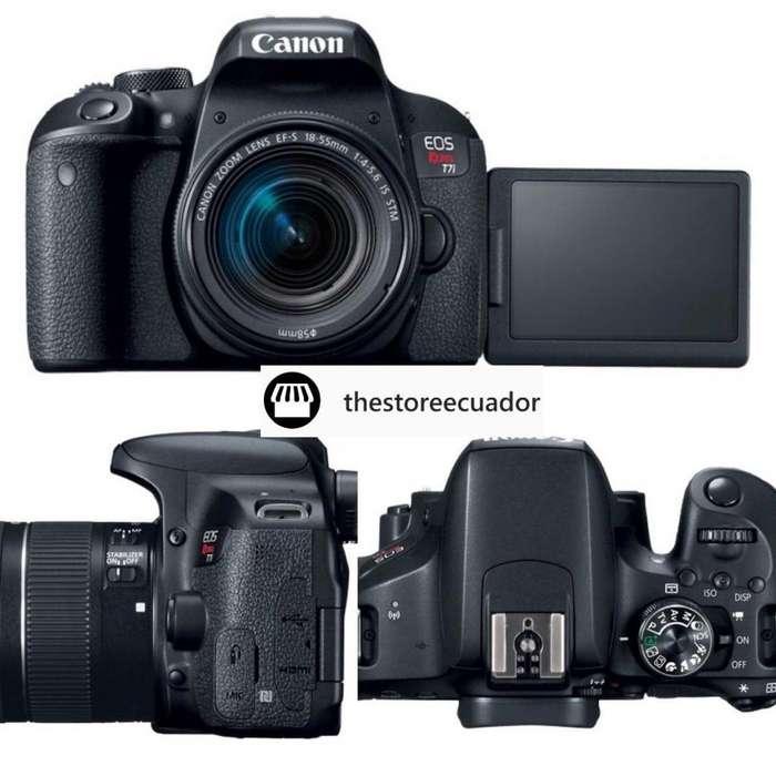 Camara Canon T7i Dslr 24.2mpx Lente 1855mm 16gb Memoria