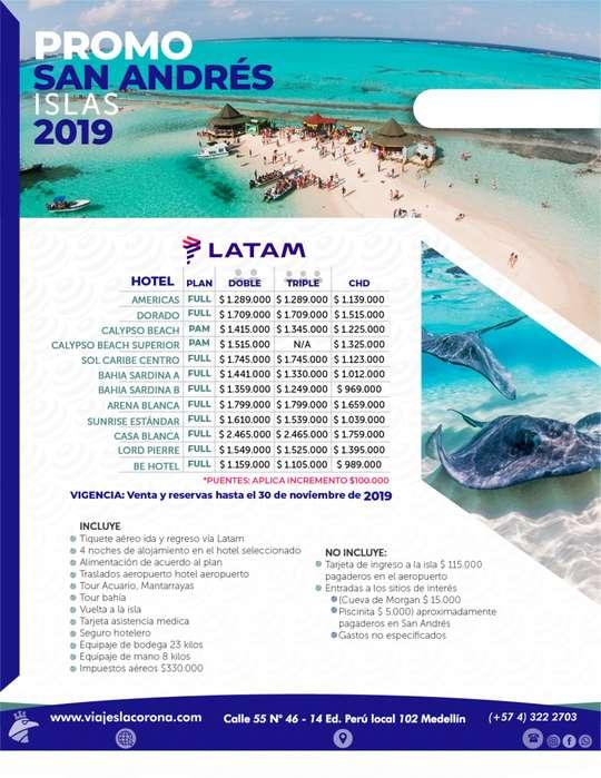 Viaje PROMO SAN ANDRÉS ISLA con Viajes la Corona LATAM