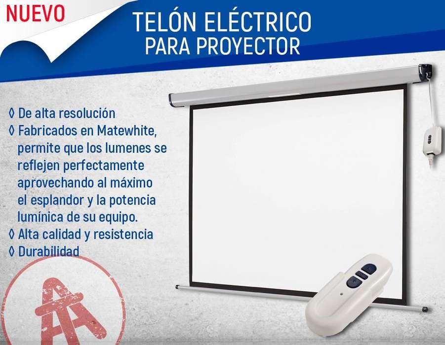 TELONES ELÉCTRICOS PARA PROYECCIÓN DE CUALQUIER MEDIDA
