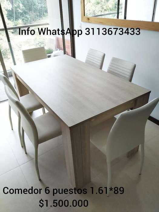 Comedor Como Nuevo 6 <strong>sillas</strong> Cuero