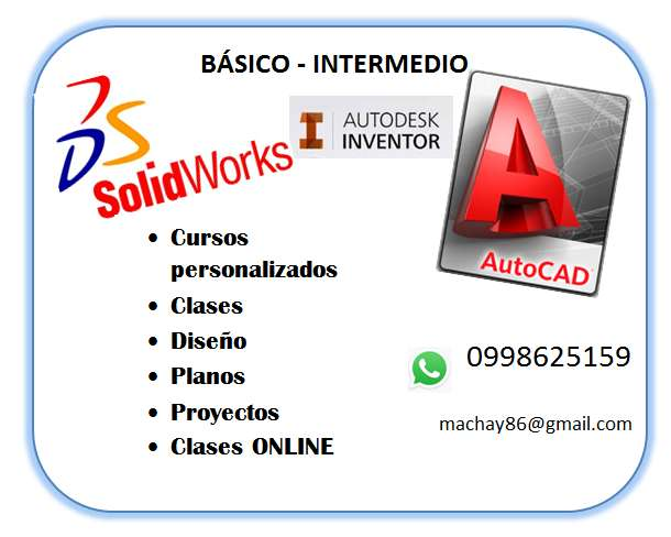 Clases <strong>autocad</strong>, Solidworks E Inventor