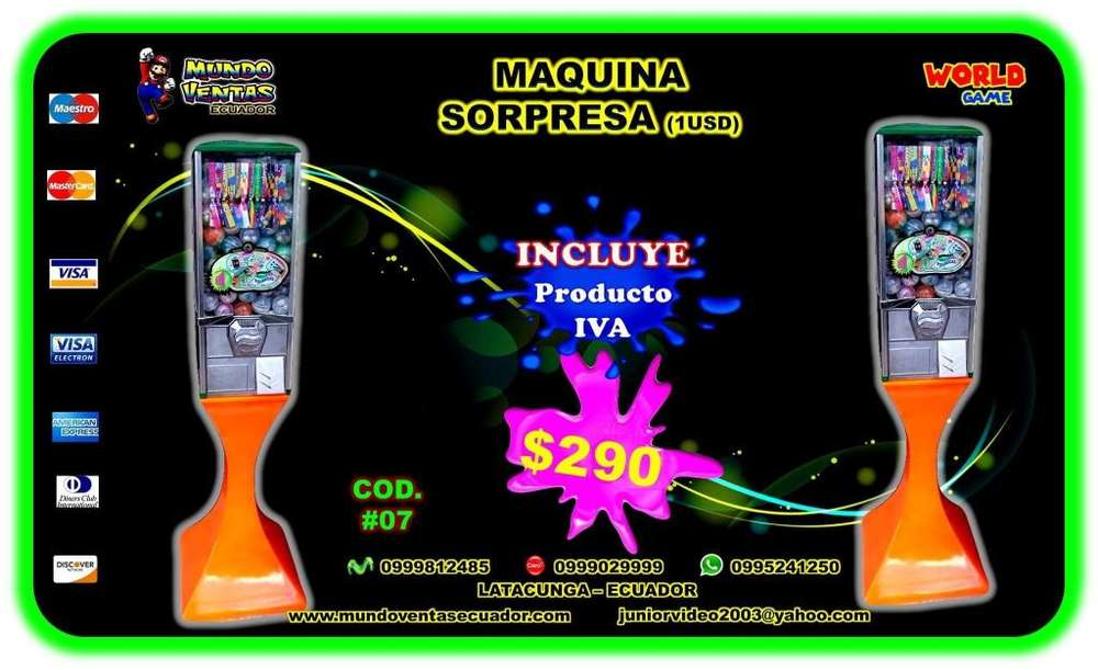 MAQUINAS CHICLERAS simple capsulera de 1.00 USD