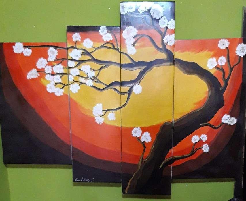 Pintura Abstracta Divididas.
