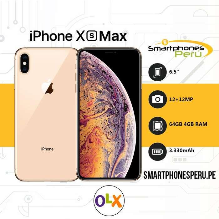 Celulares Iphone XS MAX 64GB • Desbloqueado de Fabrica • Smartphonesperu.pe