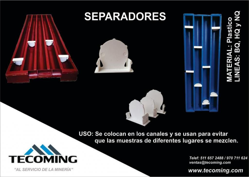 SEPARADORES/TACOS PARA BANDEJAS PORTA TESTIGOS HQ-NQ-BQ (CORESHAK)