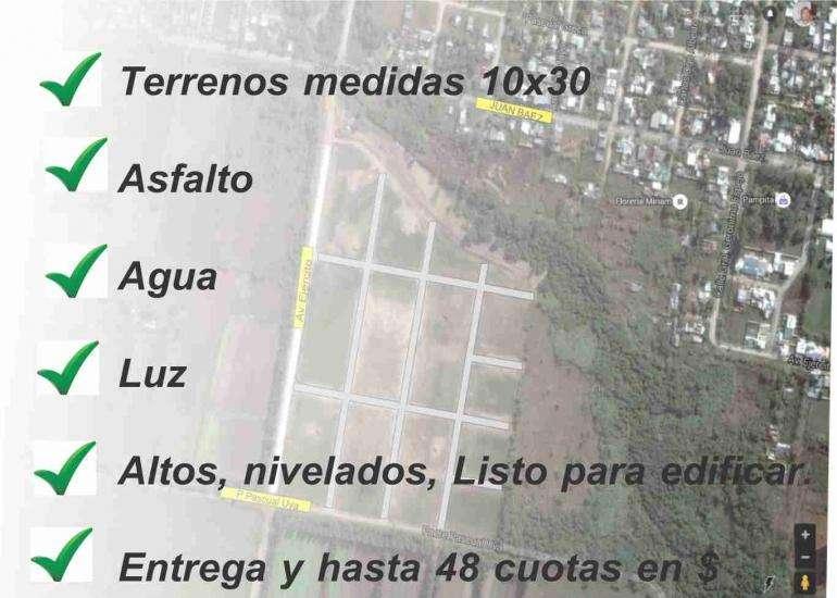 Loteo Altos del Paracao 1 Lotes desde 300 m2 ent y cuotas.