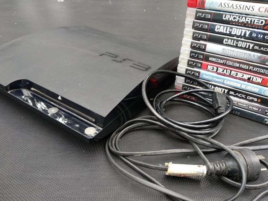 Playstation 3. 3 Joysticks. 14 Juegos