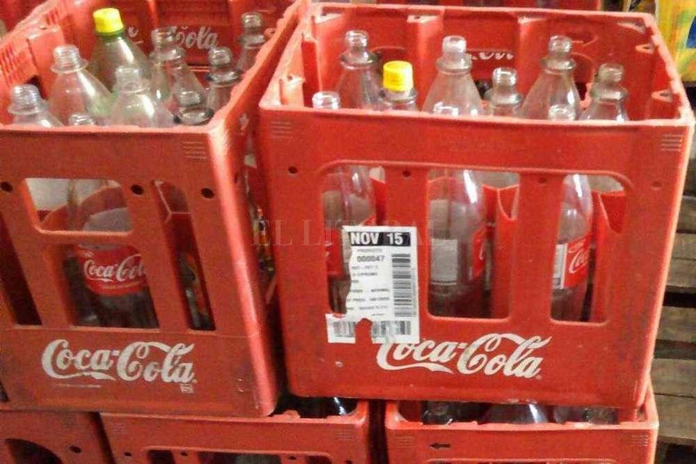 Cajones de Coca con Envases
